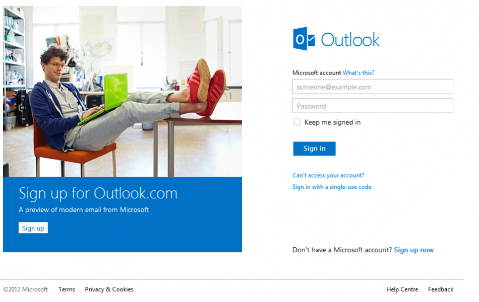 Como usar o Outlook.com