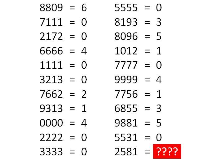 desafio dos números - teste de inteligência