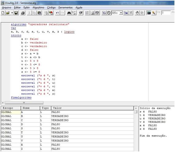 visualg algoritmo programação grátis