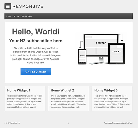 responsive theme wordpress free
