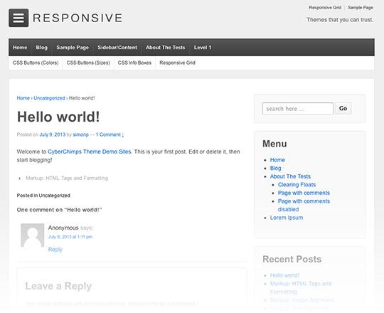 responsive tema wordpress grátis