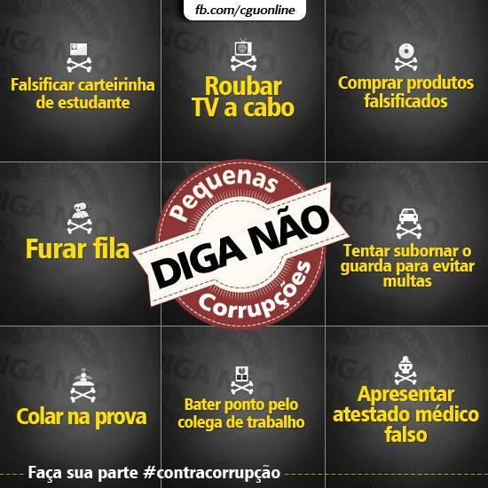 lista de pequenas corrupções