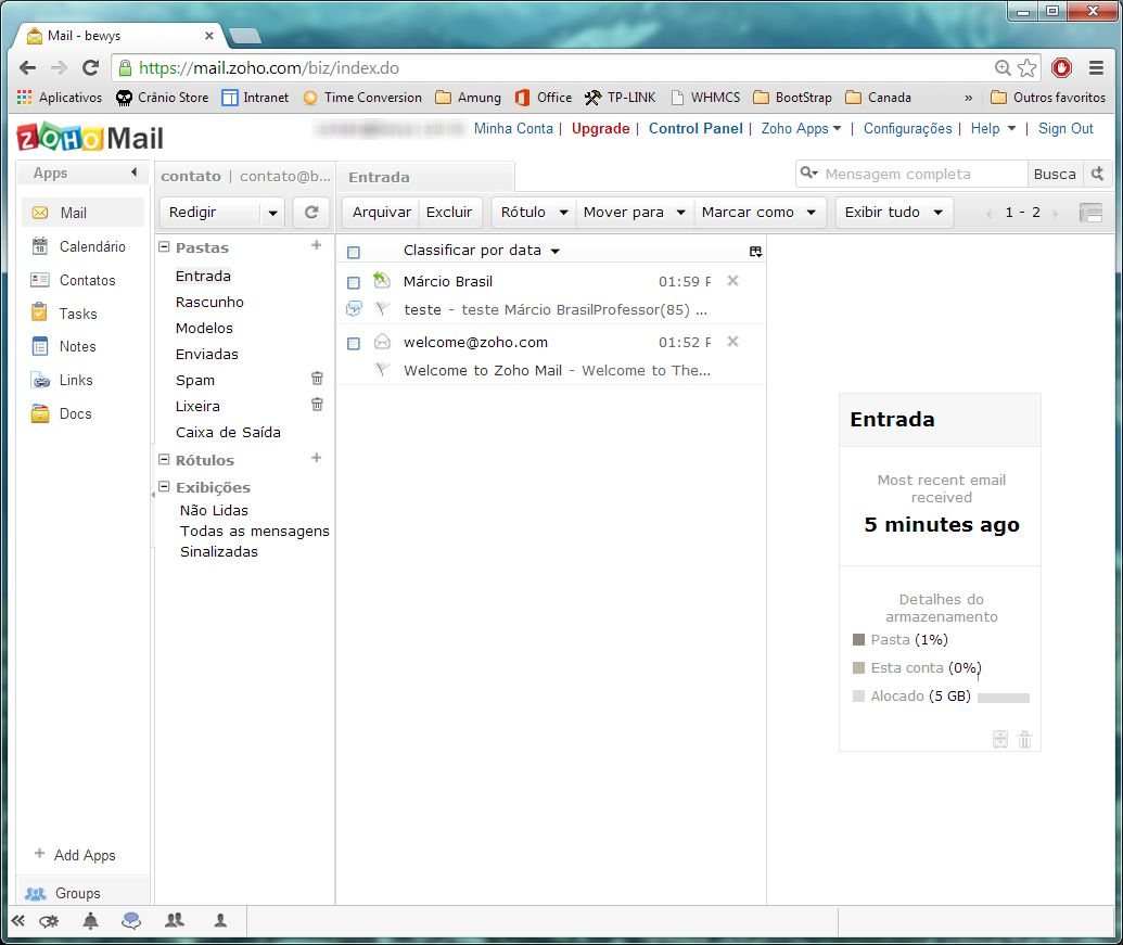 substitudo ao google apps gmail