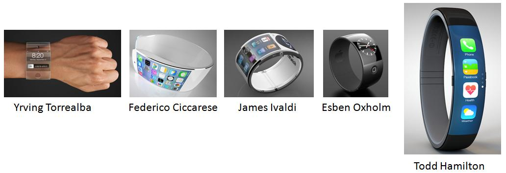 protótipos do iwatch