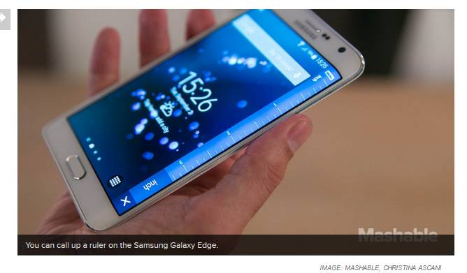 loja de Samsung Galaxy Edge