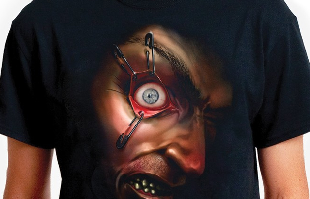 Notícias de Camiseta com olhos assustadores