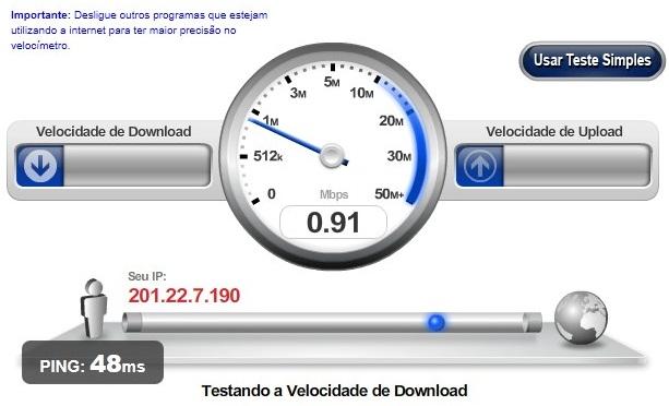 Velocidade da Internet - Speedtest