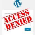 Access denied. wordpress