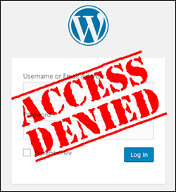 Access denied. wordpress